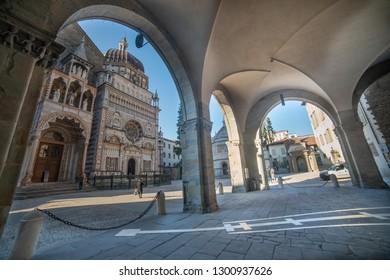 old square in the city of Bergamo
