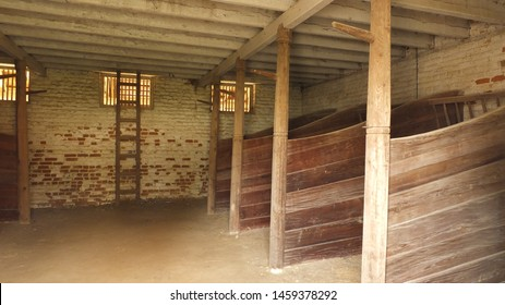 An old stable for horses.