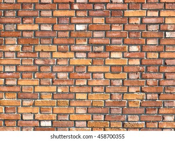 An old stained brick wall