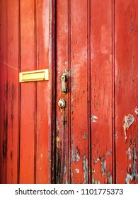 Old Stained Door Detail