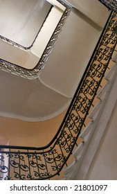 old staircase from below