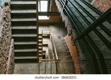 Old staircase lobby interior