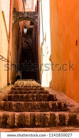 Old Staircase Narrow Street Roussillon Village Stock Photo Edit Now