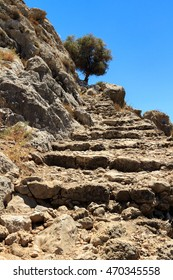 Old stairs to the mountain