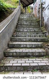 Old stairs in old town at Jiufen, Taiwan