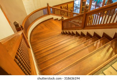 Old stairs wooden