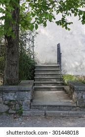 Old stairway in castle