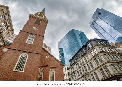 The Old State House in Boston city in the United States