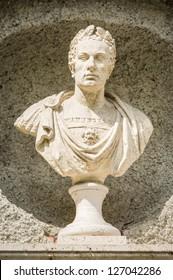 old statue of the famous roman julius caesar