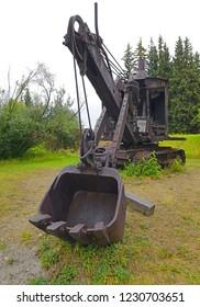 Old steam digger