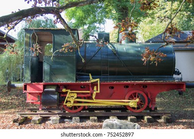 old steam locomotive in park