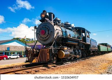 old steam locomotive station railway
