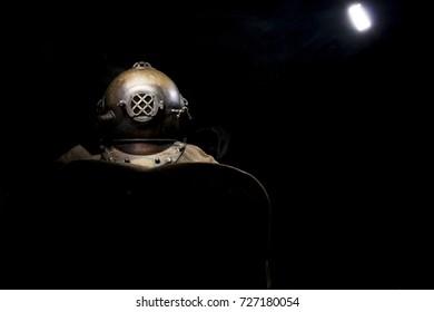 old Steam Punk diving helmet