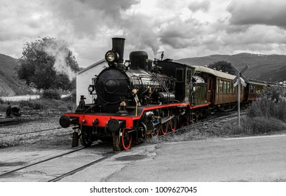 Old steamtrain on the old Vossatrack in Bergen