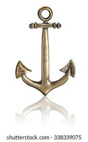 Old Steel anchor isolated on a white background. This has clipping path.