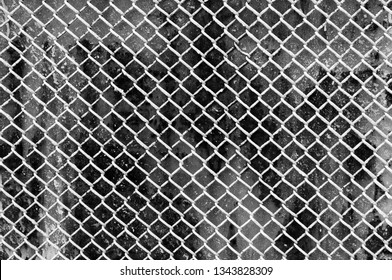 Old Steel grating texture background,Metal grid seamless pattern. black and white