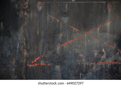 Old steel Iron rust grunge textures black backgrounds. Perfect background with space.