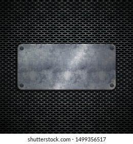 Old steel metal sign plate texture background