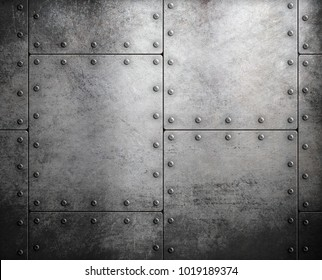 old steel metallic background 3d illustration