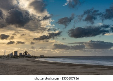 Old steel works at Redcar. Located on the north east coast of England.