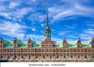 The Old Stock Exchange (Danish: Boersen) in Copenhagen, Denmark. Built in 1625, it is one of the oldest buildings in Copenhagen. It was built under King Christian IV.