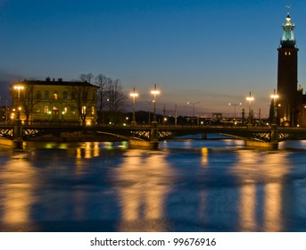old Stockholm at night, Sweden