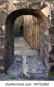An Old Stone Arch Leading to a Dungeon