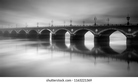 old stone bridge to Bordeaux