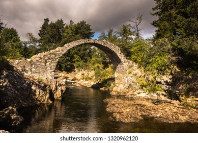 Old Stone Bridge, Highlands, Carrbridge, Cairngorms National Park, Highland Scotland UK
