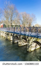 Old stone bridge in historic city Lippstadt, GErmany