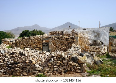 Old stone building on the Fuerteventura island, Spain