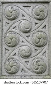 Old stone carved Celtic design