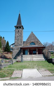 old stone church Front View