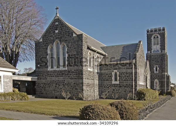 Old stone church at Merivale,Christchurch, New Zealand