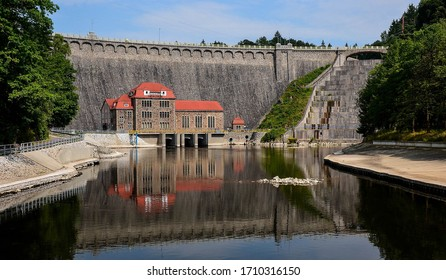 Old stone dam in Poland with stone house