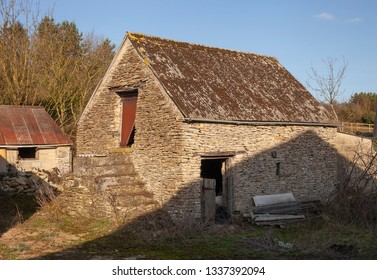 Old stone granary, Cotswolds, Gloucestershire, England