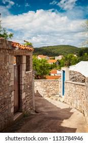 Old stone house in Sumartin, Croatia.