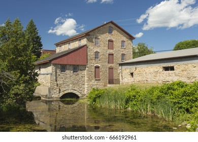 The Old Stone Mill in Delta, Ontario. A National Historic Site, built in 1810.