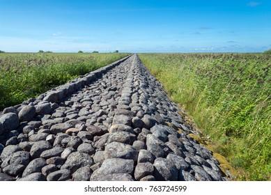 old stone mole, Ainazi, Latvia (on the border with Estonia)