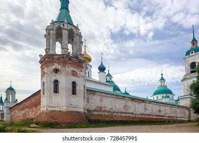 Old stone Orthodox Church in Russia.