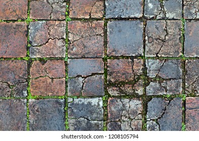 Old stone pavement in Hue, Vietnam