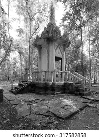 Old stone temple deep in jungle Asia