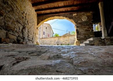 Old stone town gate of Roc, Istria, Croatia