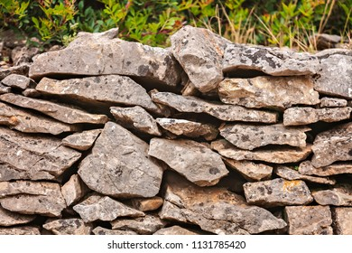 Old stone wall background texture.