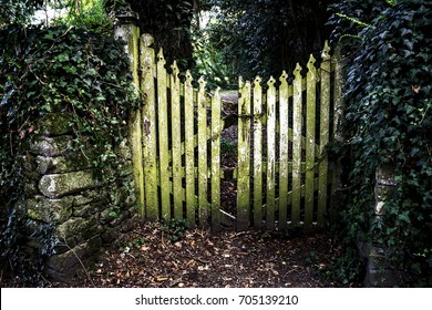 Old stone wall and gate