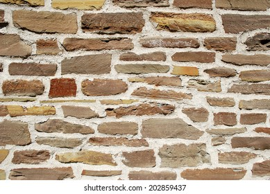 Old stone wall horizontal background