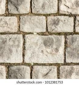 Old stone wall seamless 2k texture closeup