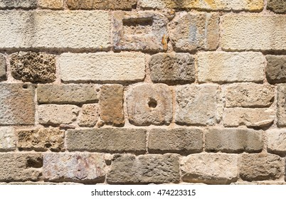 An old stone wall texture.