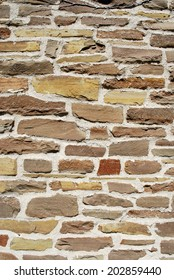 Old stone wall vertical background