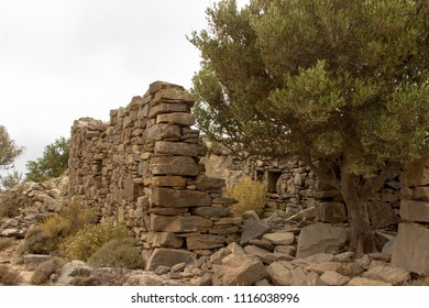 old stone walls in the mountains